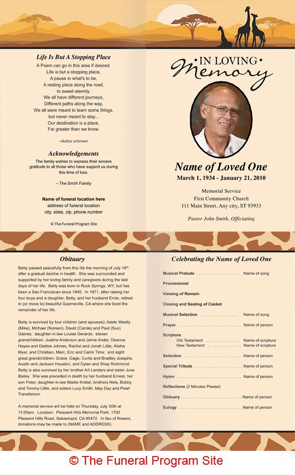 Memorial Programs Templates Funeral | Templates » Memorial Cards For  Funerals | Funeral Program Template .  Free Memorial Program Templates