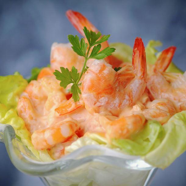 Verrines crevettes et sauce cocktail light