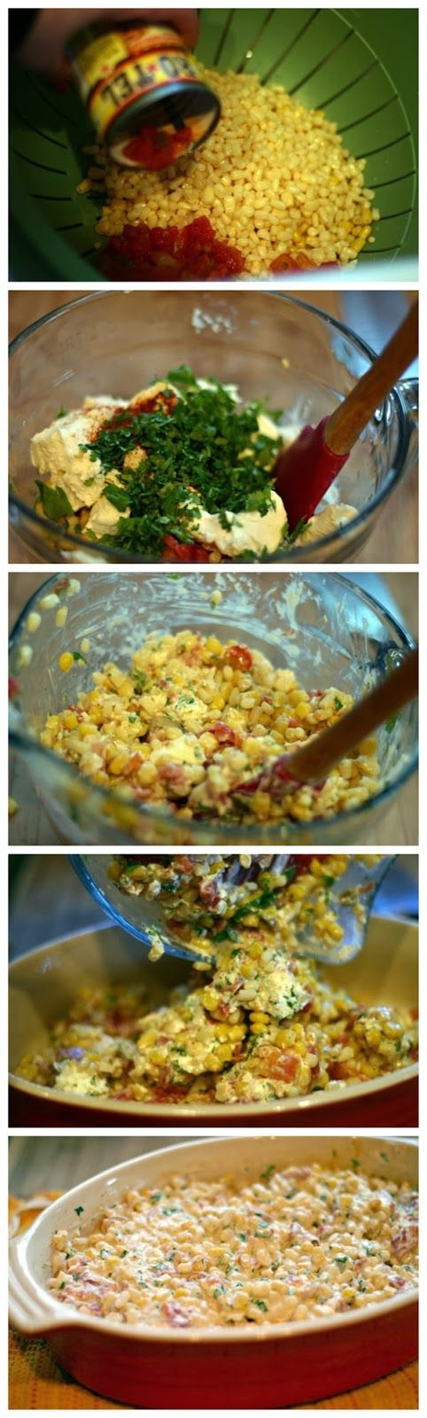Creamy Corn Rotel Dip or use as a side dish! Been making this for a long time!