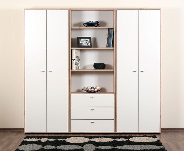 Zero szekrény világos sonoma tölgy - fehér színben.