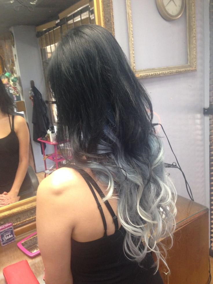 Black to silver ombre #ombre #modersalon