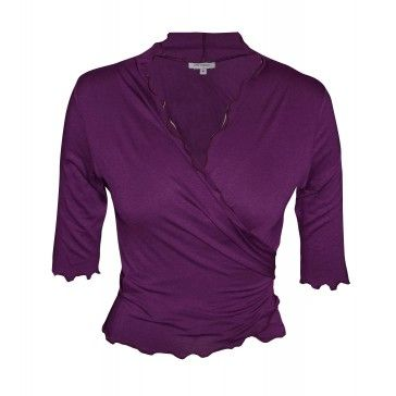 Summer Wrap Top - Purple