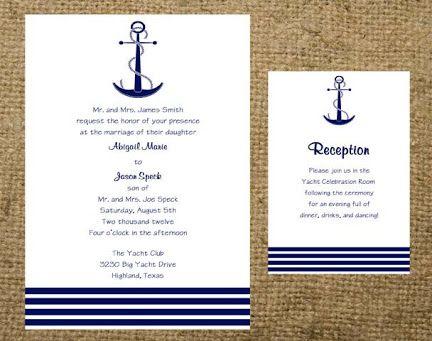 Anchor Paper Wedding Invitations   Google Search