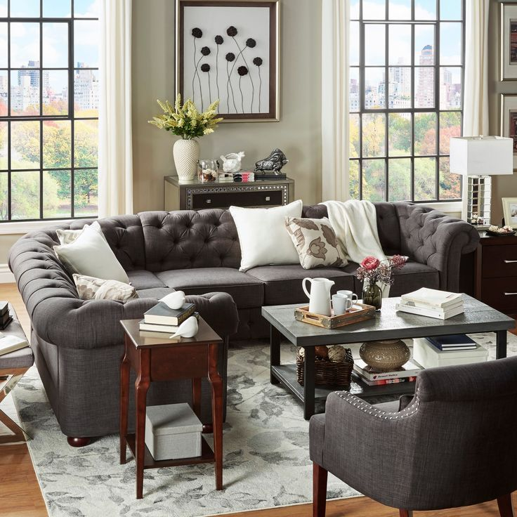 Living Room Comfortable White Sectional Sofa For Elegant: Bring Comfort And Style To Your Living Area With This