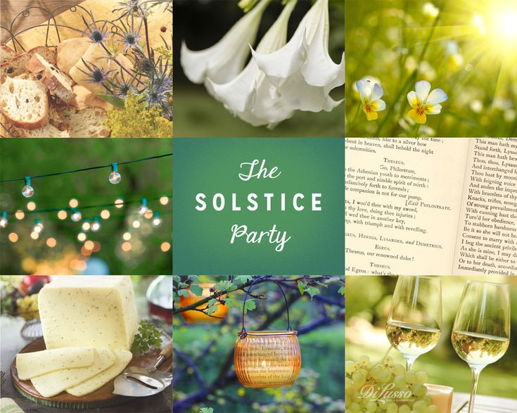 Celebrate the longest day of the year by staging a midsummer night's dream celebration #summer #solstice #party