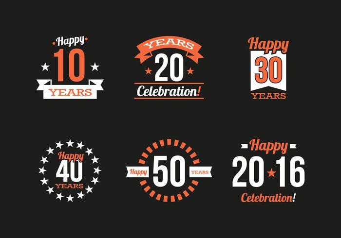 Free vector Anniversary Vintage Logos Vector #22464