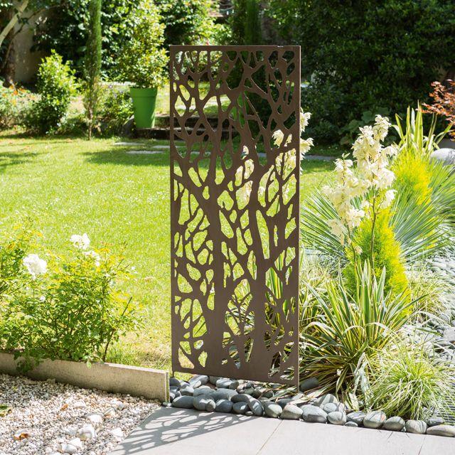 Treillis d co arbre l 0 6 x h 1 5 m castorama id es for Arbre jardin contemporain
