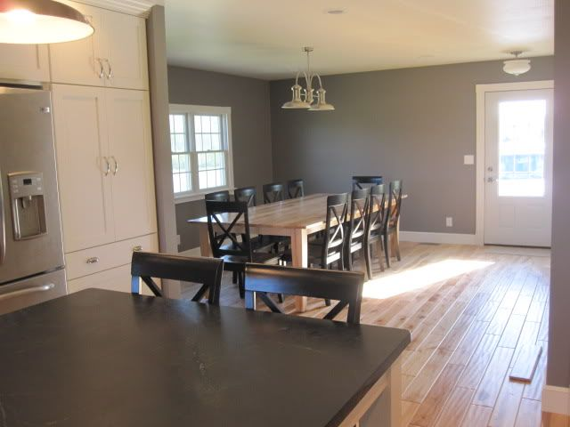 Sherwin Williams Dovetail Grey - kitchen and dining room