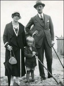 PRINCE PHILIP (center) with his parents, ca. 1923.