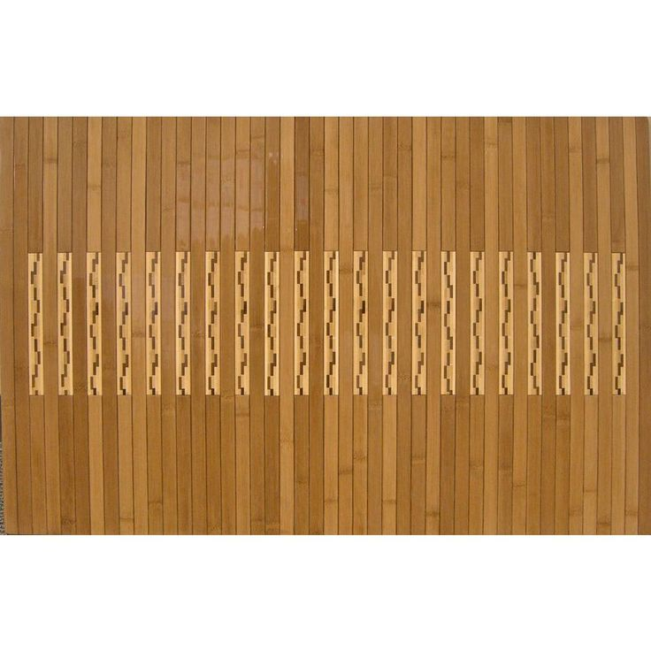 Light Brown 24 in. x 36 in. Bamboo Kitchen and Bath Mat