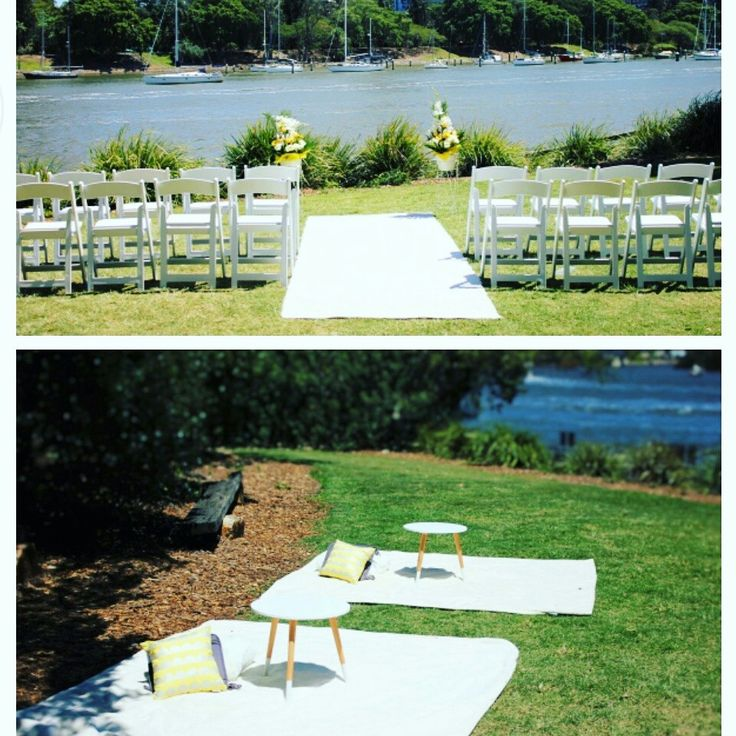 Picnic Styled Yellow And White Wedding By Brisbane Decorators At Kangaroo Pt Brisbaneweddingdecoratorsau