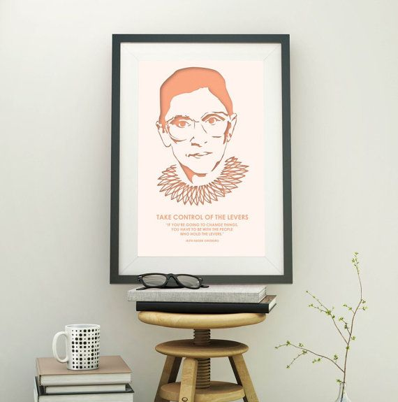 Ruth Bader Ginsburg - Law School - Lawyer Gift - Inspirational Quote - Law Student Gift - Home Office Decor - Law Office Decor