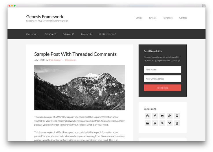 genesis compact framework theme for bloggers
