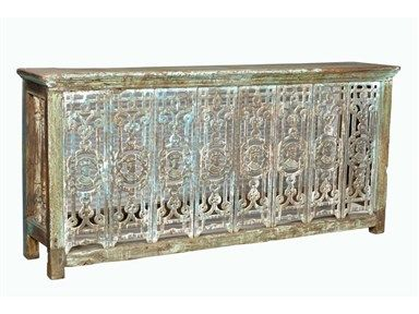 Global Imports Cast Iron Jali Console Table, SAE17319,at Exotic Home