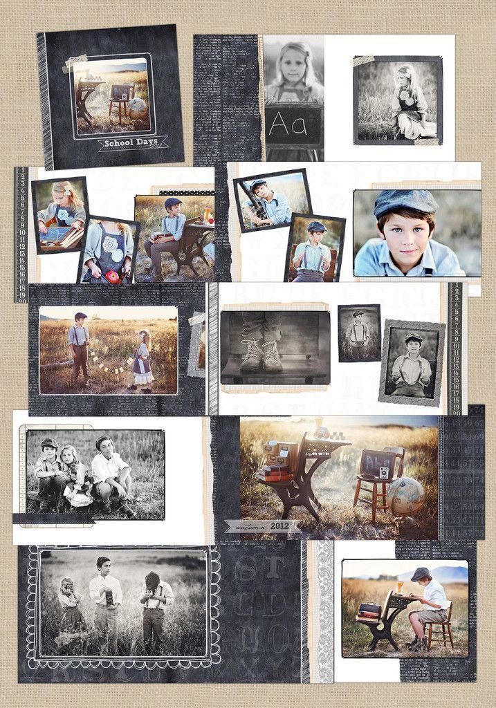 Pizarra de la vieja escuela   12x12 Álbum - Crave Diseño