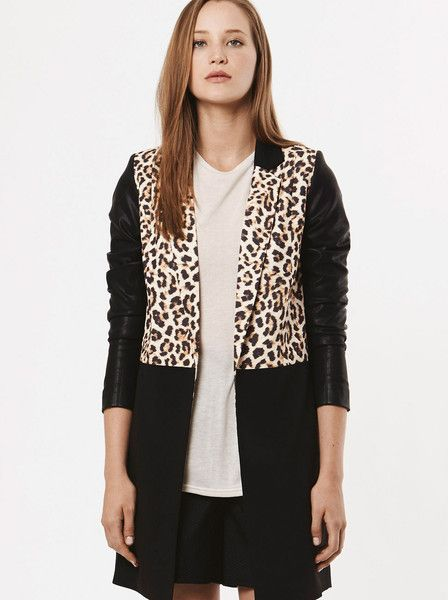 RUBY SEES ALL - Graces Jacket - Leopard - Leather Look - Black  $229.90