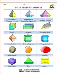 shapes for kids list of geometric shapes 3d col