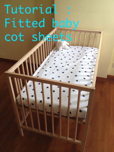 Learn how to make fitted cot sheets