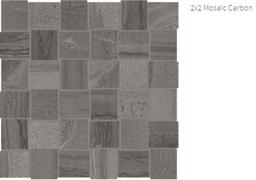 Amelia Marble 2x2 Mosaic Carbon #amelia #marble #faberstoneandtile