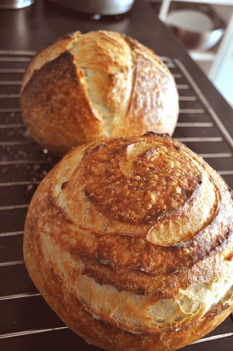 Home made Sourdough bread recipe easy. Sourdough made the old way is a bread that can be eaten by gluten intolerant people. It has to do with the fermentation process. The yeast breaks down the gluten that causes people to have allergies. Read up on it. The ancients really knew their stuff.