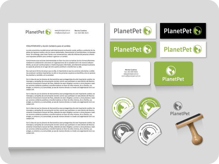 Identidad visual para Planet Pet Colombia