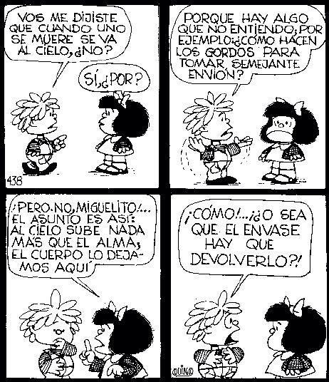 Me fascina la lógica de Mafalda y sus amiguitos