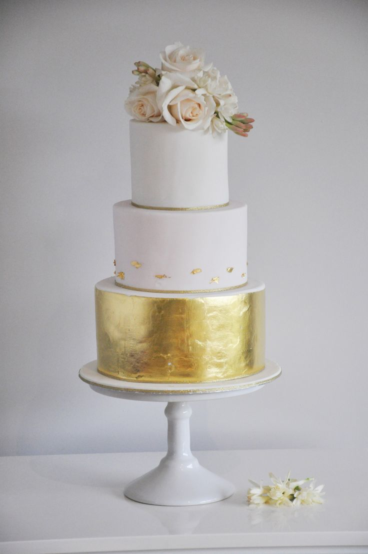 Gold Wedding Cakes Pinterest