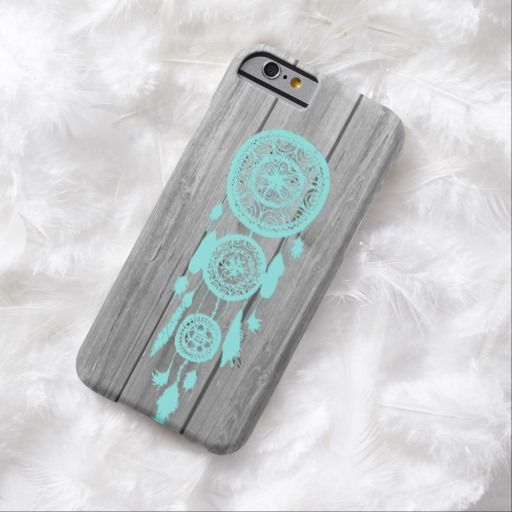 Awesome iPhone 6 Case! Hipster vintage teal dreamcatcher on gray wood iPhone 6 case. It's a completely customizable gift for you or your friends.