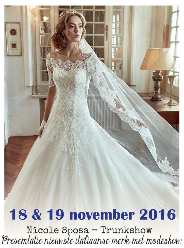 Nicole Spose Modeshows bij Verliefd BruidsCouture te Kapelle 18 & 19 november 2016 - Meld je snel aan via onze website: www.verliefdbruidscouture.nl