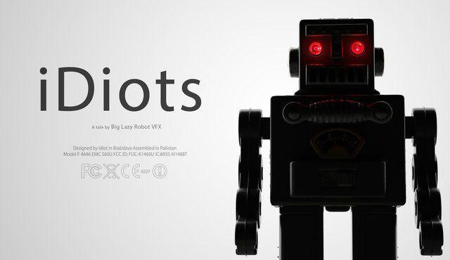 Une histoire de robots addicts aux portables. Il n'en fallait pas plus pour attirer les yeux de nos bambins vers ce court métrage d'animation !!!