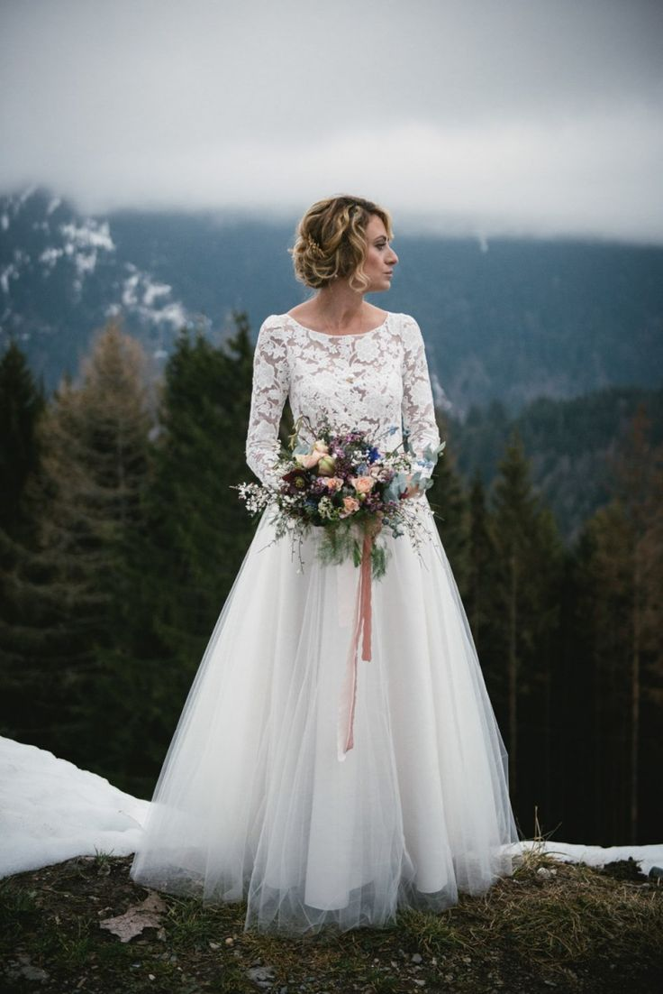 Inspiration - Mountain Wedding Bouquet de mariée - Lilas Wood