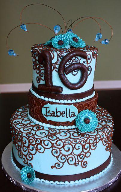 Claudine: Sweet 16 Birthday Cake
