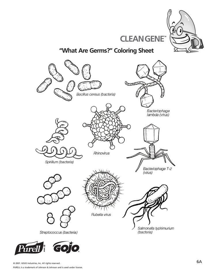 Germ Coloring Pages For Kids