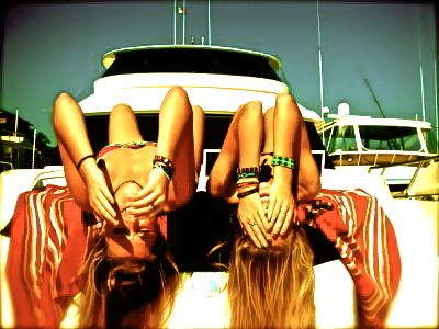 tanning on the boat