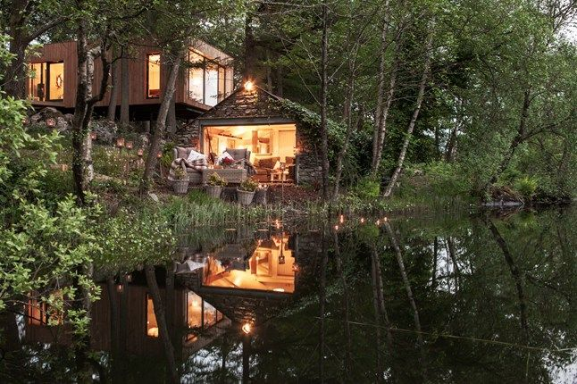 Lakeside spa cabins in the Lake District | via cntraveller.com