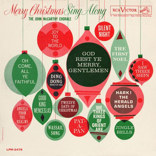 Christmas is over, but I don't care. Mid-Century Modern Graphic Design