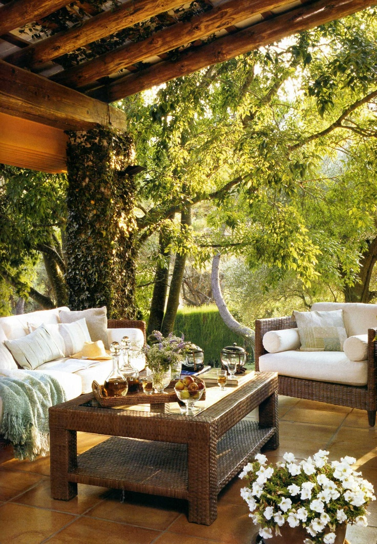 Perfect porch, just need to plant more trees