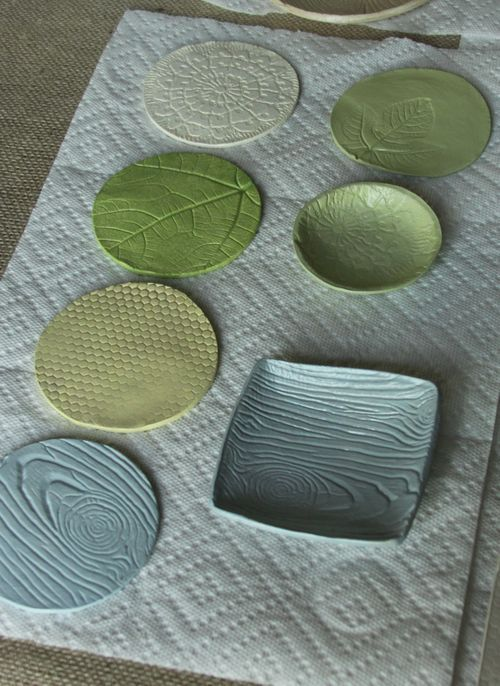 Textured air-dry clay... awesome!