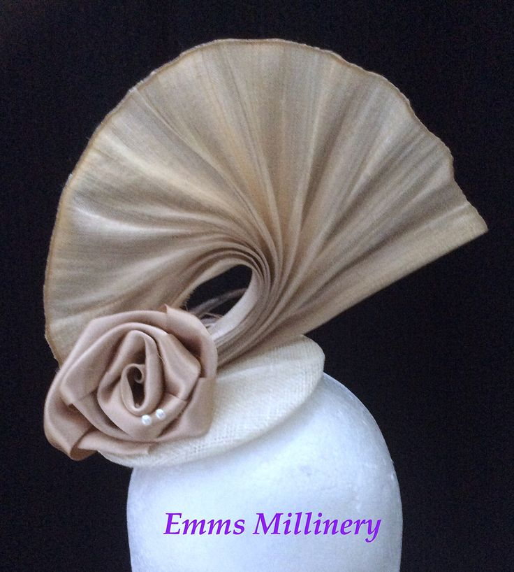 """""""Creme Brûlée"""" by Emms Millinery  Lovely shades of hazelnut, coffee and cream"""