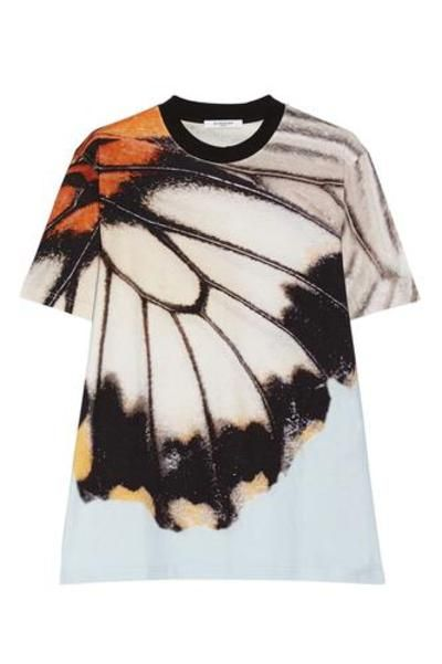 Butterfly-print cotton-jersey T-shirt #tee #offduty #covetme #Givenchy