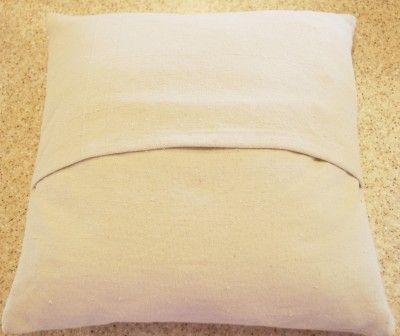 pillow slipcover tutorial