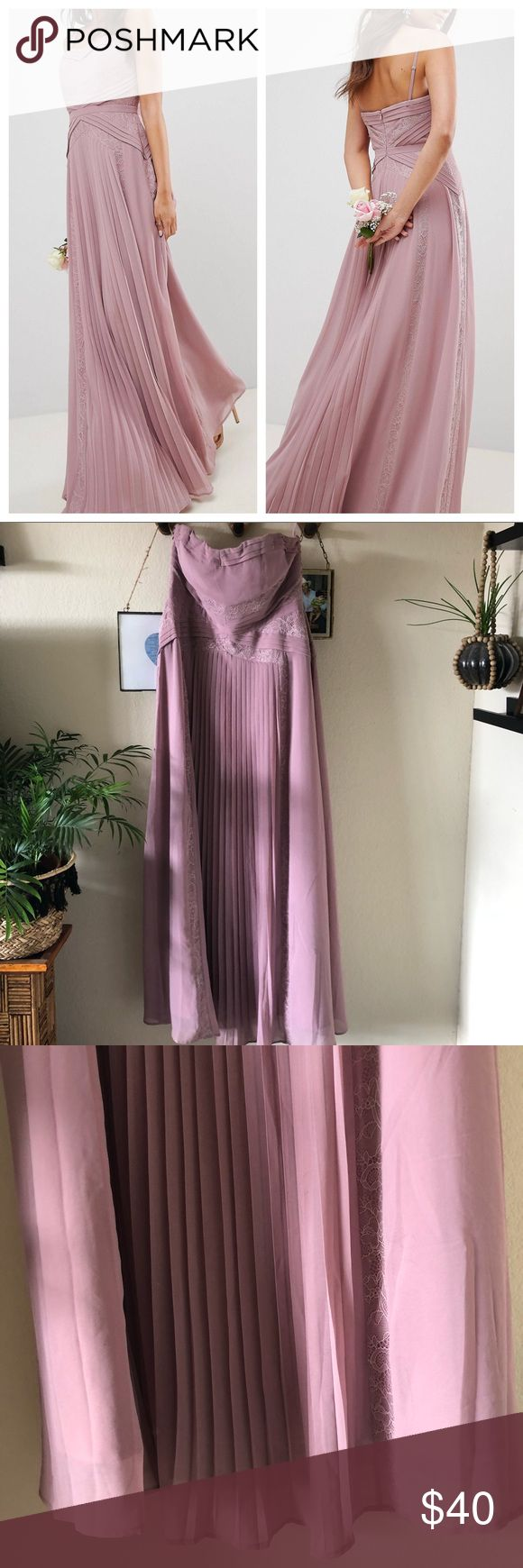 ASOS Tall Mauve / Dusty Rose Bridesmaid Dress! ASOS TALL brand. Worn only once f…