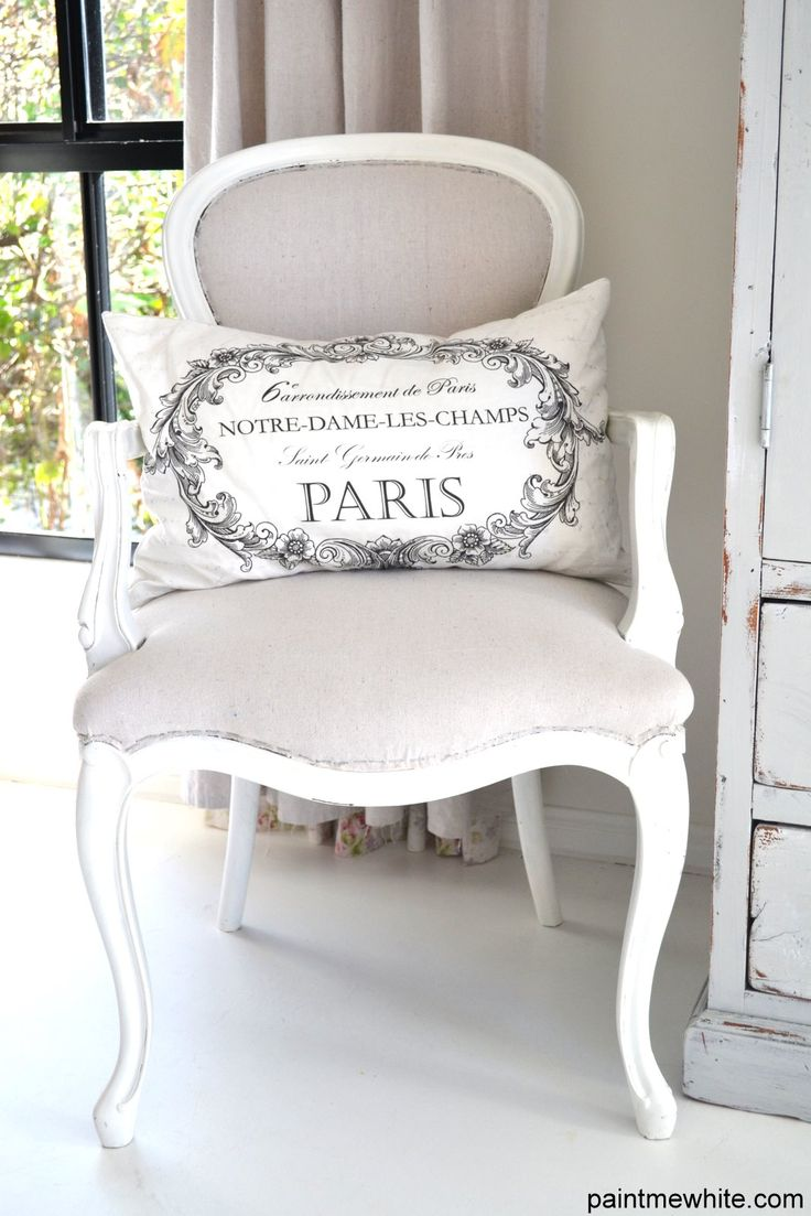 A very elegant French chair - plus French printed fabrics are soooo now!