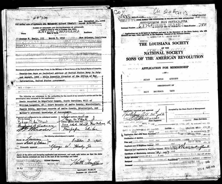 U.S., Sons of the American Revolution Membership Applications, 1889-1970
