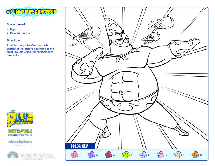 spongebob coloring numbering pages - photo#1