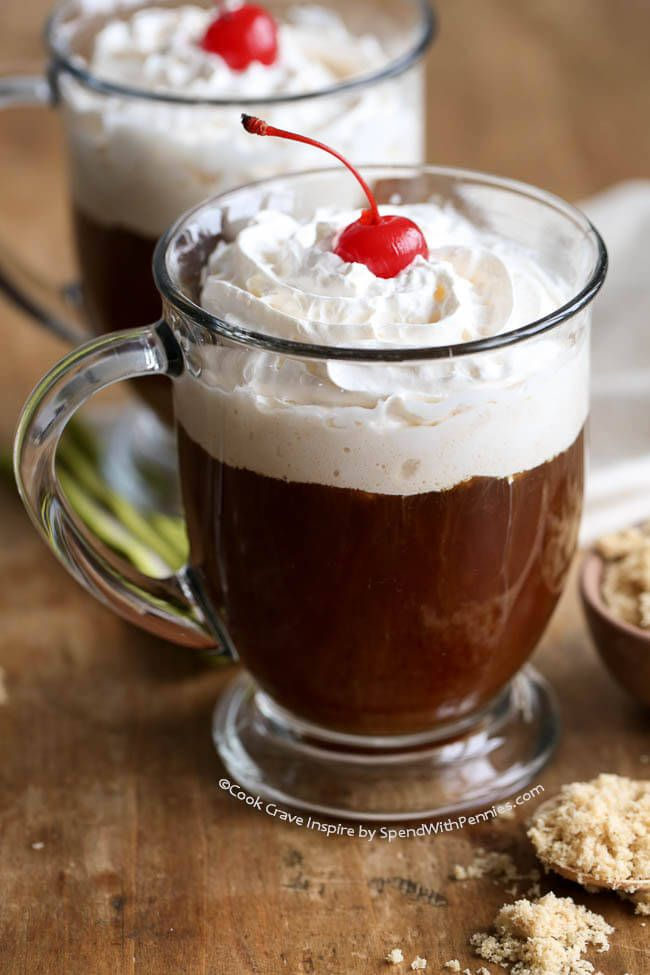 This Irish Coffee recipe is perfect for St. Patrick's Day or anytime!  Made with Irish Whisky but you could also sub in Baileys.