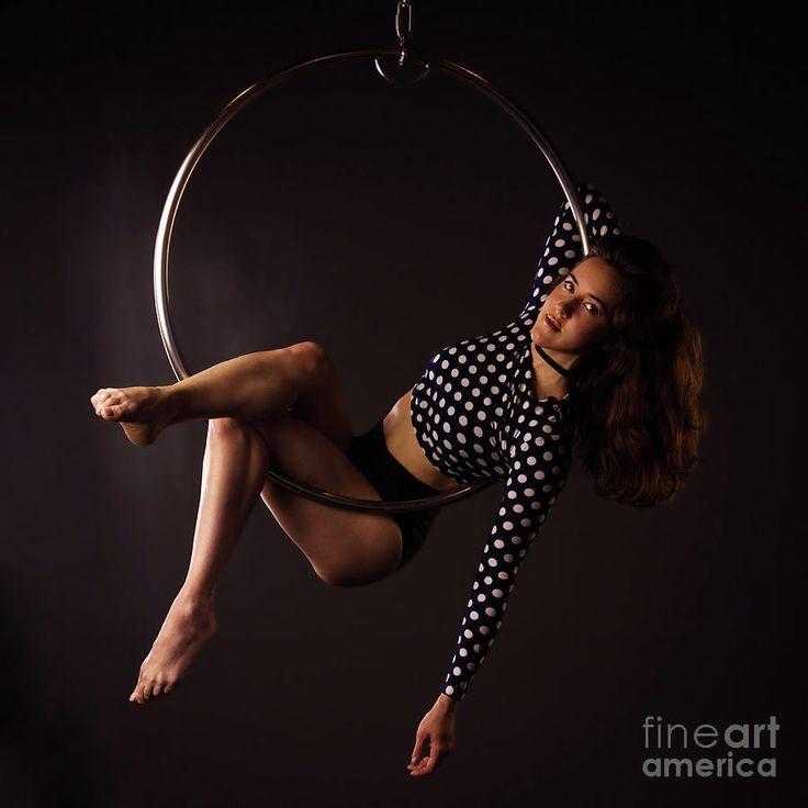 Woman On Lyra-5 Photograph by Svetlana Svetlanistaya  #Svetlanistaya #Woman #Aerialist #AerialRing #InteriorDesign #Sport
