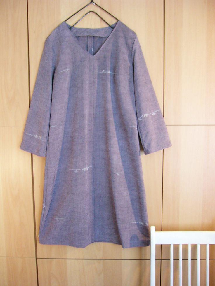 紬の着物からワンピース