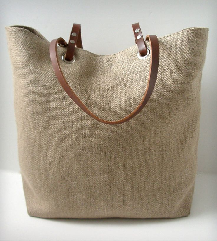 Linen and Leather Tote Bag - Woven | Women's Accessories | Independent Reign | Scoutmob Shoppe | Product Detail $120
