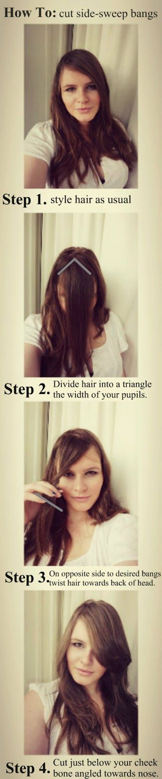 HollyWouldStudio: How To - Cut Side Sweep Bangs